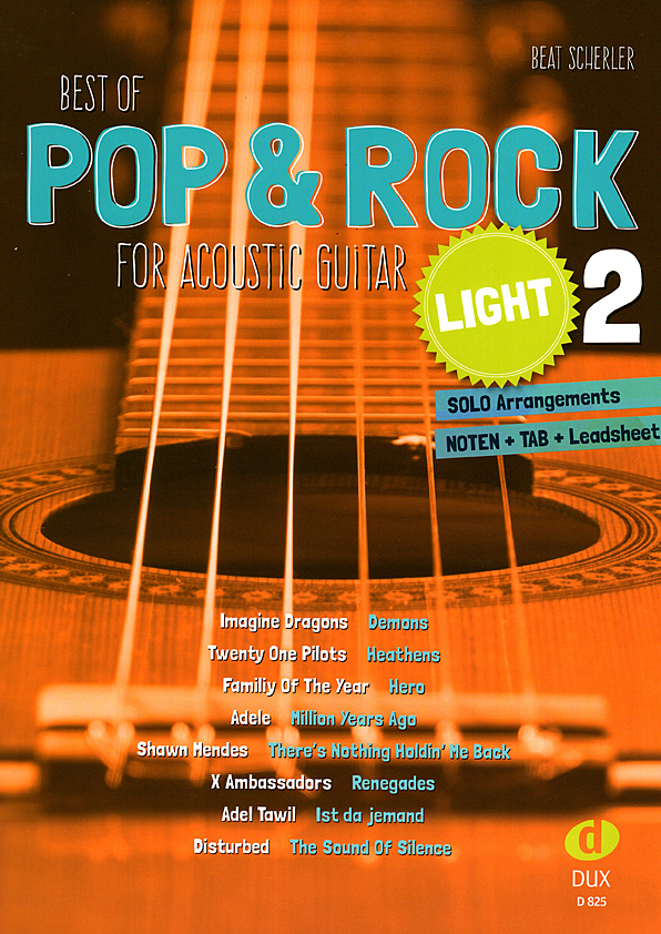 Beat Scherler, Best of Pop & Rock light Band 2, Noten für Gitarre
