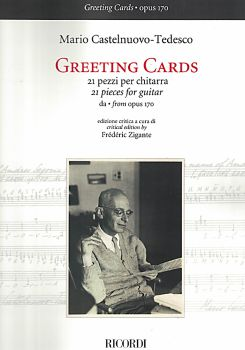 Castelnuovo-Tedesco, Mario: Greeting Cards from op. 170, 21 Pieces for Guitar solo, sheet music