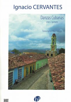 Cervantes, Ignacio: Danzas Cubanas for 2 guitars, sheet music for guitar duo