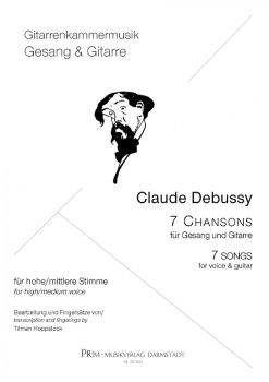 Debussy, Claude: Sette Chansons - 7 Songs for Voice and Guitar, sheet music