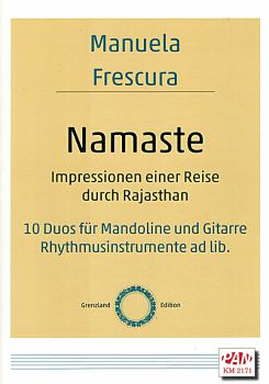 Frescura, Manuela: Namaste, 10 Duets for Mandolin and Guitar (Rhythm. ad lib), sheet music