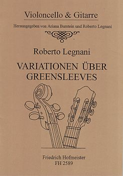 Legnani, Roberto: Variations on Greensleeves for Cello and Guitar, sheet music