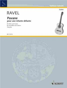 Ravel, Maurice: Pavane pour une infante dèfunte for flute and guitar, sheet music