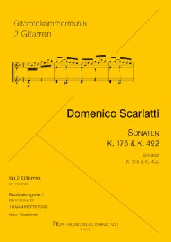 Scarlatti, Domenico: 2 Sonatas, K.175 and K.492 for 2 guitars, sheet music