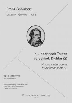 Schubert, Franz: 14 Songs after poems by different Poets (2) for Tenor Voice and Guitar - Songs with Guitar Vol. 8, sheet music