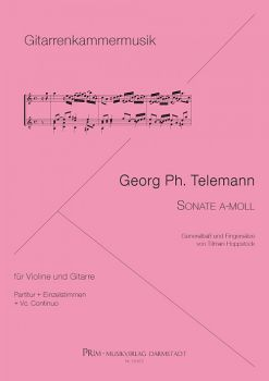 Telemann, Georg Philipp: Sonata a-minor for Violin (Mandolin, Flute) and Guitar, sheet music
