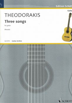 Theodorakis, Mikis: Three Songs for guitar solo, sheet music