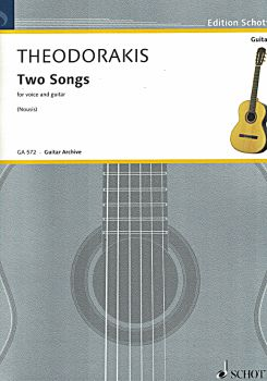 Theodorakis, Mikis: Two Songs for voice and guitar, sheet music