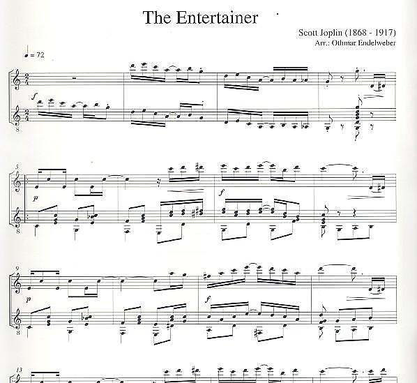 Joplin, Scott: 4 Ragtimes Vol  1 for flute and guitar