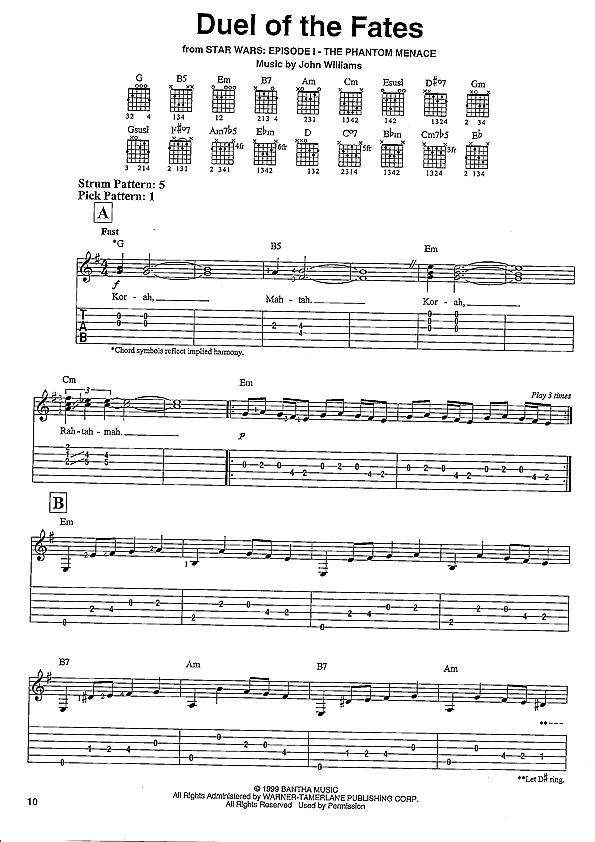 All Music Chords star wars sheet music : Gitarrennoten und Gitarrenzubehör, Die Zupfgeige ...