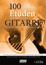 The 100 most essential etudes for guitar, a collection of easy, intermediate and advanced etudes