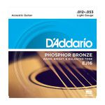 Strings for Acoustic Steel-string Guitar, D`Addario EJ16, light, 012 - 053, Phosphor Bronze
